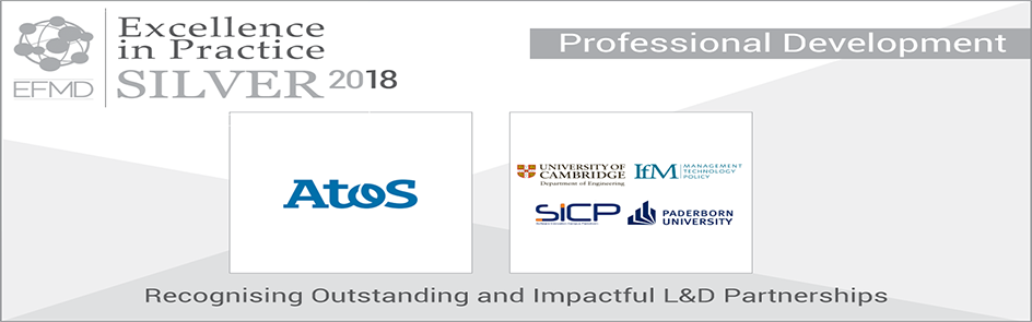 Ausgezeichnet! Das Programm Gold for Experts von Atos hat den EFMD Excellence in