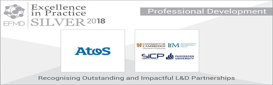 Ausgezeichnet! Das Programm Gold for Experts von Atos hat den EFMD Excellence in Practice Silver Award gewonnen. Atos ist Partner des SICP. Gold for Experts wurde 2013 von IfM Education and Consultancy Services der University of Cambridge und der Universität Paderborn im SICP initiiert.